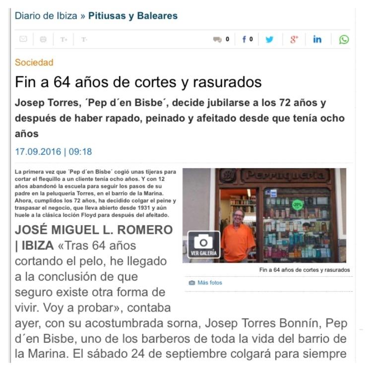 Diario de Ibiza Pep d'en Bisbe