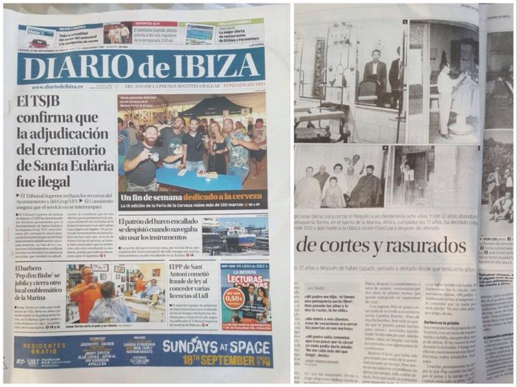 Diario de Ibiza Pep d'en Bisbe edición papel