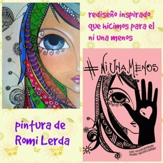 Origen de la imagen #niunamenos de Romina Lerda, cogido de biochile.cl