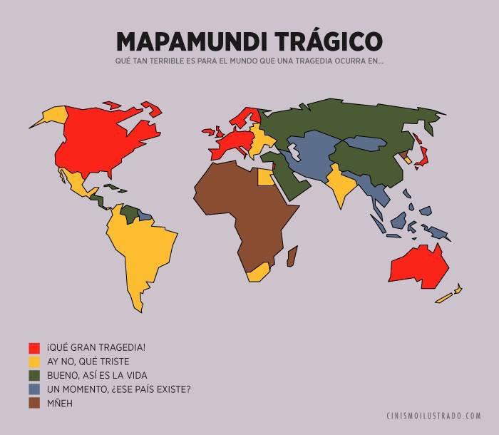 Mapamundi trágico de www.cinismoilustrado.com