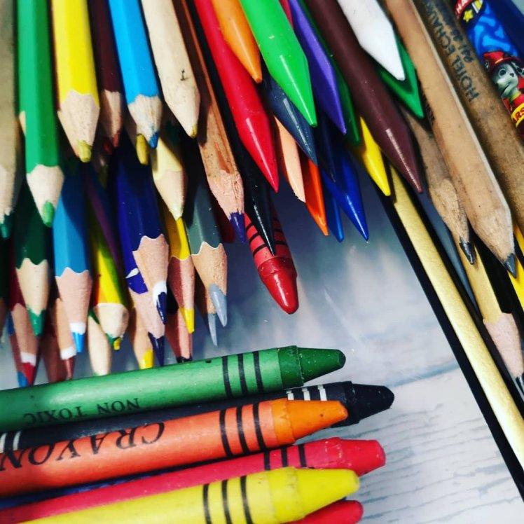 Lápices de colores con punta